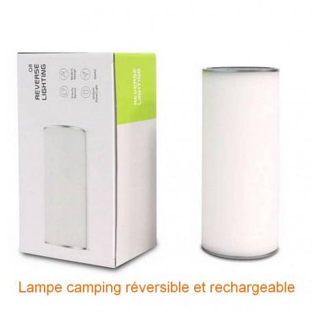 Lampe led reversible et rechargeable