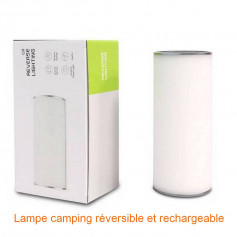 Lampe led reversible et rechargeable