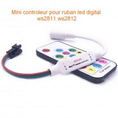 Mini contrôleur RF avec télécommande led digital ws2811 ws2812 5v-24v