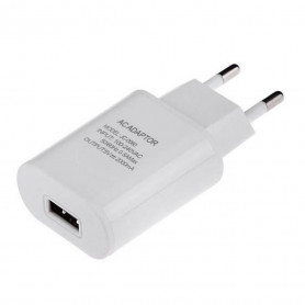 Chargeur adaptateur USB 5v 2A blanc
