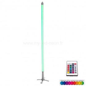 Tube Néon RGB avec télécommande sur pied 134 cm