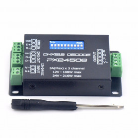 Décodeur DMX 3 canaux PX24506