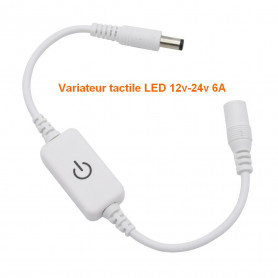 Mini variateur tactile 12-24v 6A blanc