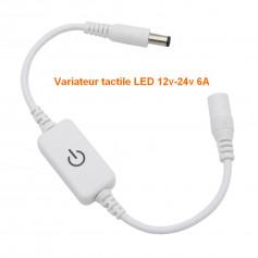 Variateur tactile 12-24v 6A blanc