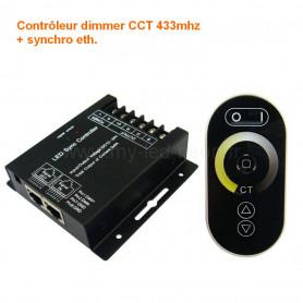 Controleur dimmer CCT sans fil RJ45