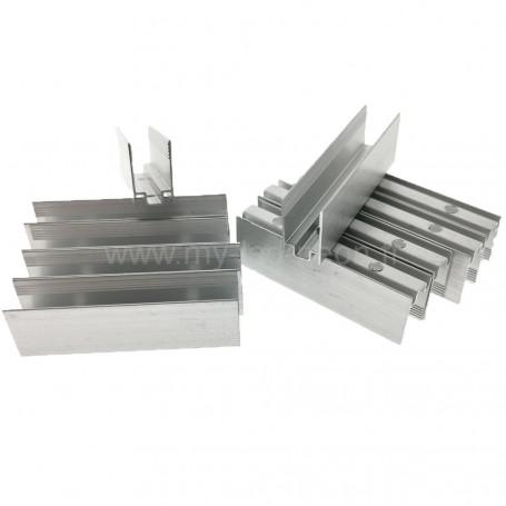 Profilé aluminium 8x16mm 5cm