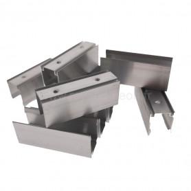 Profilé aluminium 16x20mm 5cm