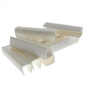 10 profilés 7x8mm PVC blanc néon flex 180°