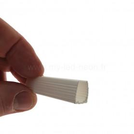 Profilé 7x8mm PVC blanc néon flex 180°