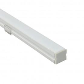 Profilé diffusant carré 17x15mm 1m pour ruban led