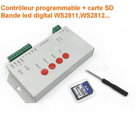 Contrôleur led digital T1000S carte SD