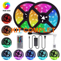 kit complet ruban led rgb 12v 5m