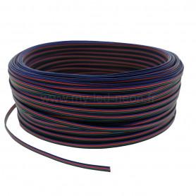Câble nappe 4 fils RGB 5m