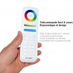 Télécommande 5en1 led rgb rgbw
