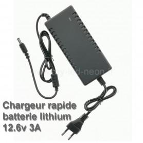 Chargeur rapide 12v 3A batterie lithium