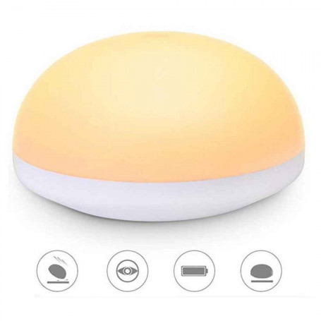 Lampe veilleuse à effleurement rechargeable