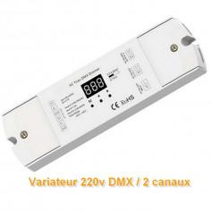 Variateur Triac 220V DMX 2 canaux