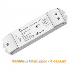 Contrôleur 3 canaux RGB/CCT 220V RF 2,4ghz