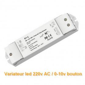Variateur de lumière 0-10v Push AC triac 220V