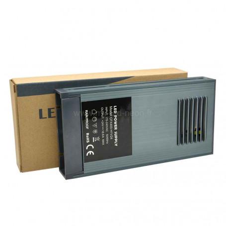 Bloc d'alimentation 400W 24v 16.6A IP65 slim