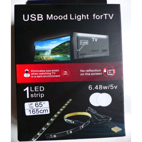 KIT LED TV USB Blanc froid