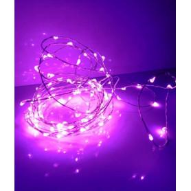 Fil led décoration violet 5m