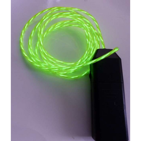 Fil néon animé - vert pomme