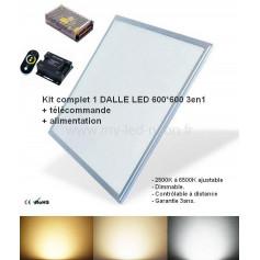 Kit Dalle led 600*600 3en1