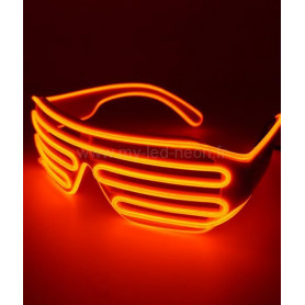 "LUNETTE NEON ""AVIATOR"" ORANGE"