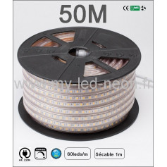 Ruban led recoupable 220v 50m