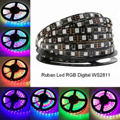 Ruban led Digital WS2811 5m