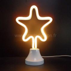 Lampe étoile néon led
