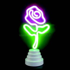 Lampe cactus néon led