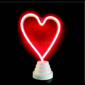 Lampe coeur nèon led