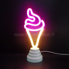 Lampe glace néon