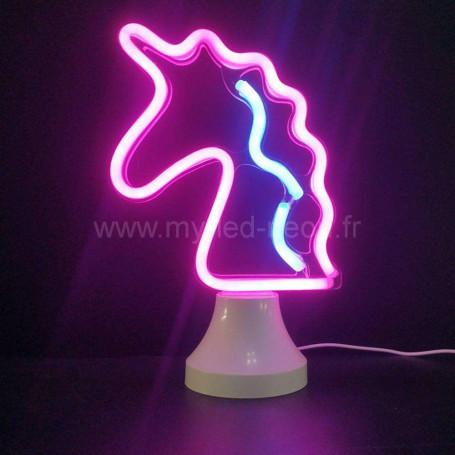 Lampe licorne nèon led