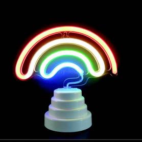 Lampe arc en ciel néon