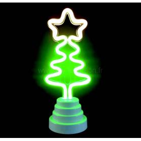 Lampe sapin de noël néon