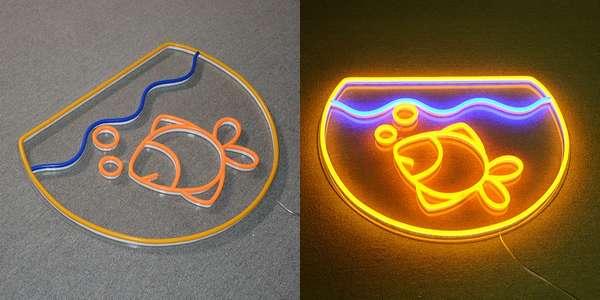 aquarium poisson neon led decoration chambre enfant